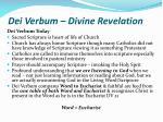 dei verbum divine revelation19