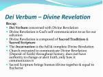 dei verbum divine revelation20
