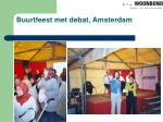 buurtfeest met debat amsterdam
