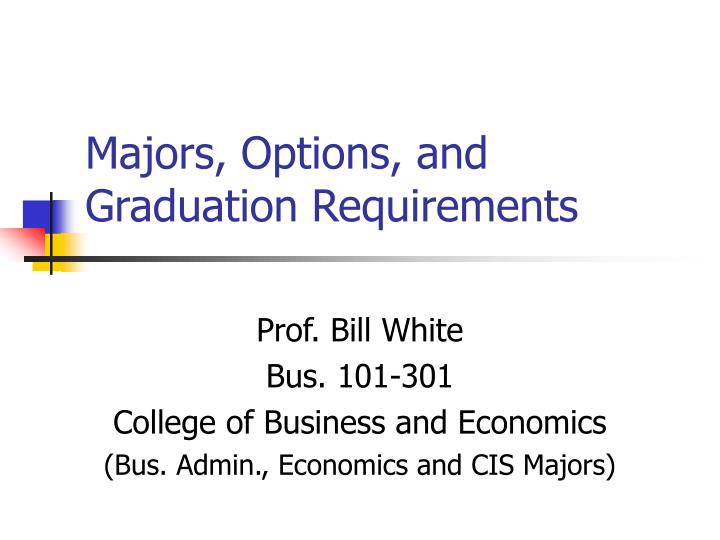 majors options and graduation requirements n.