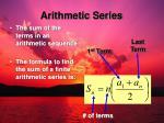 arithmetic series