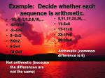 example decide whether each sequence is arithmetic