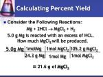 calculating percent yield1
