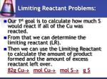 limiting reactant problems1