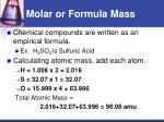 molar or formula mass