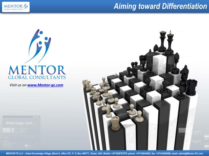 Aiming toward Differentiation