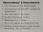muhammad s arguments