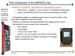 time interpolator of the matacq chip