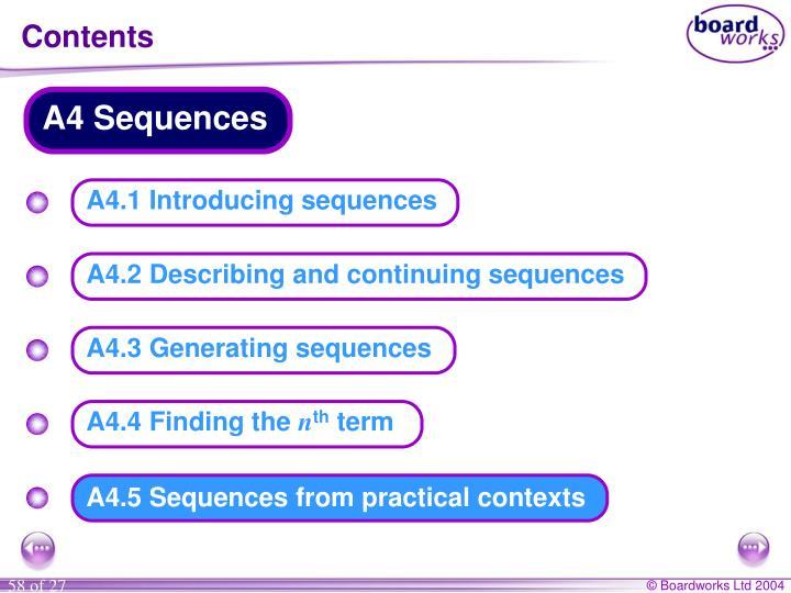 A4 Sequences