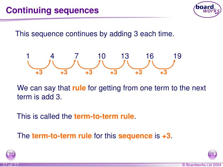 Continuing sequences