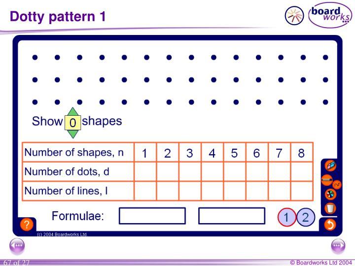 Dotty pattern 1