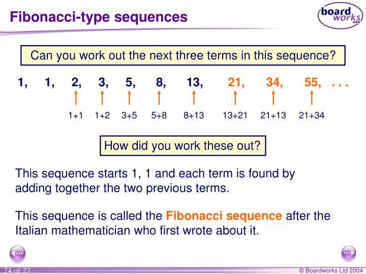 Fibonacci-type sequences