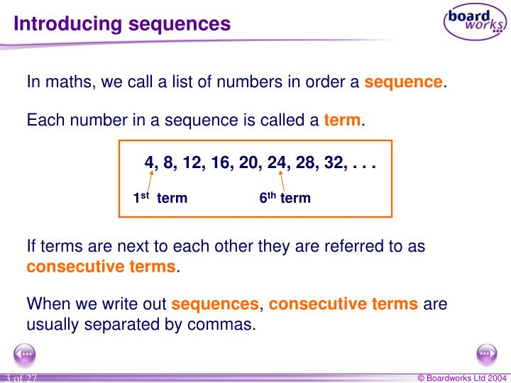Introducing sequences