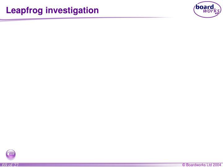 Leapfrog investigation
