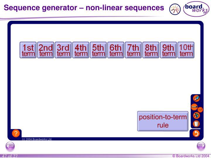 Sequence generator – non-linear sequences