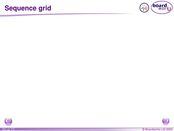 Sequence grid