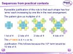 sequences from practical contexts1