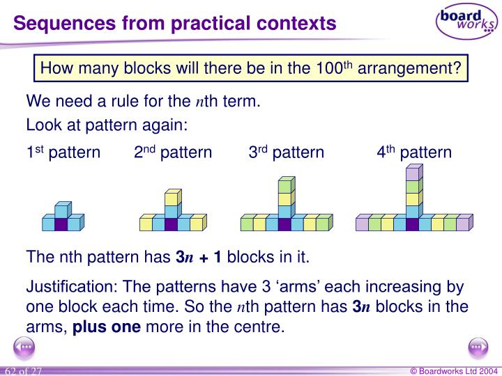 Sequences from practical contexts