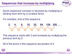 sequences that increase by multiplying