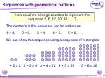 sequences with geometrical patterns