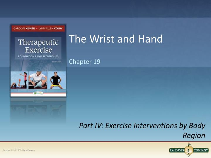 the wrist and hand n.