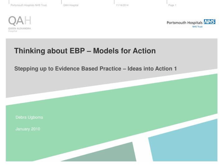 thinking about ebp models for action n.