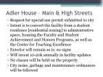 adler house main high streets