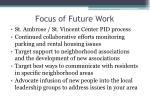 focus of future work