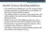 health science building addition