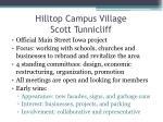 hilltop campus village scott tunnicliff