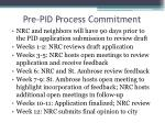 pre pid process commitment