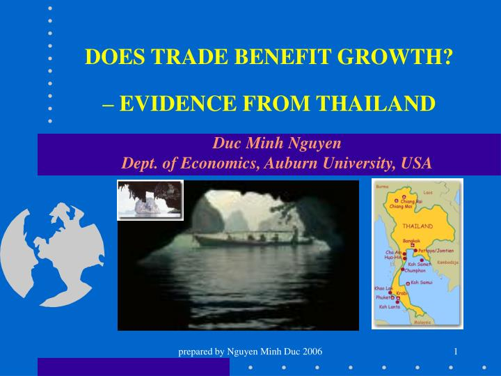 does trade benefit growth evidence from thailand n.