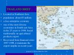 thailand brief