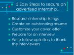 5 easy steps to secure an advertised internship