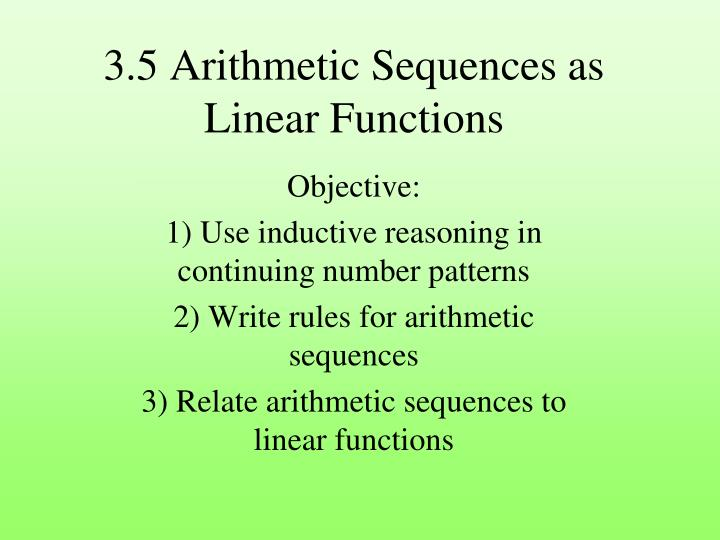 3 5 arithmetic sequences as linear functions n.