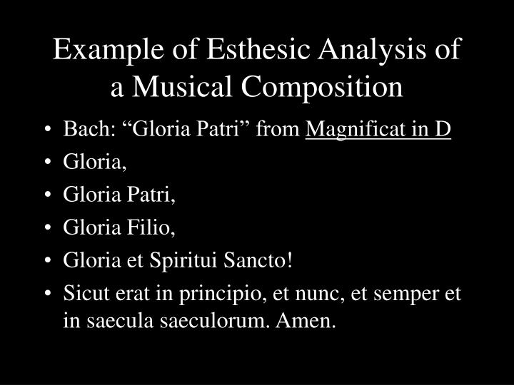 Example of Esthesic Analysis of a Musical Composition