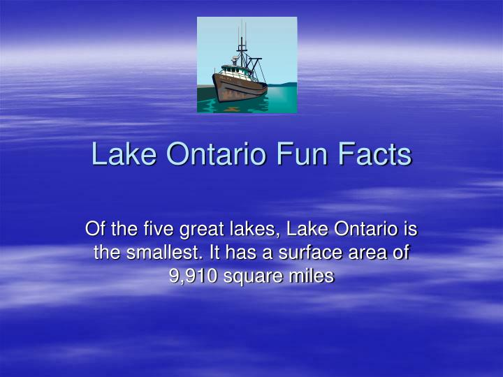 lake ontario fun facts n.
