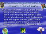 some interesting facts about the area around lake ontario