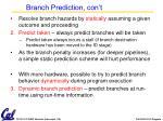branch prediction con t