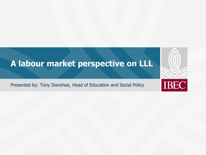 a labour market perspective on lll n.