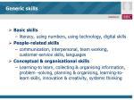 generic skills