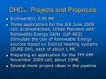 dhc projects and proposals