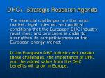 dhc strategic research agenda