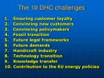 the 10 dhc challenges