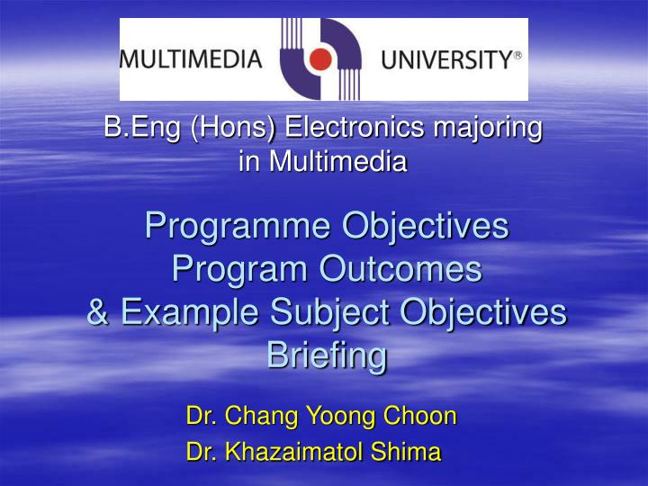 programme objectives program outcomes example subject objectives briefing n.