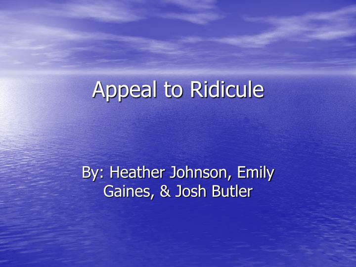 appeal to ridicule n.