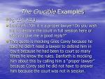 the crucible examples