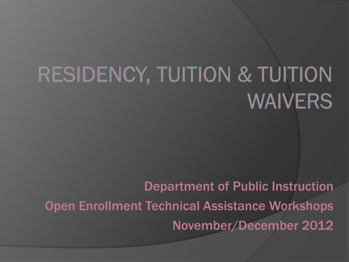 residency tuition tuition waivers n.