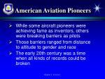 american aviation pioneers
