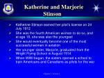 katherine and marjorie stinson